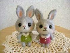 adorable felt bunnies
