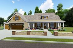 Rustic Farmhouse with Optional Finished Lower Level and Bonus - 64466SC - 02
