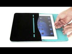 """KAVAJ Mikrofasertasche """"Paris"""" Case Envelope für Apple iPad, iPad 2 und iPad 3 schwarz-grün"""