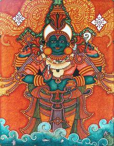 Om Shree Danvanthre Namaha Dhanvantari, an avatar of Viṣṇu, the physician of the gods. Kerala.