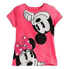 Disney Mickey and Minnie Mouse Tee for Girls Pink: Celebrate the sweetest of sweethearts with Mickey and Minnie on a pink heathered tee with glittering accents, a summertime fling that's sure to become a fashion favorite. Disney Outfits, Outfits For Teens, Girl Outfits, Disney Clothes, Casual Coats For Women, Girls Dress Up, Disney Girls, Disney Mickey, Mickey And Friends