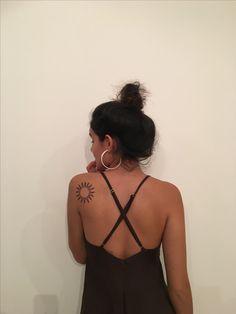 Sun Tattoos, Back Tattoos, Girl Tattoos, Celtic Tattoos, Tatoos, Simple Sun Tattoo, Sun Tattoo Small, Tiny Tattoos For Girls, Tattoos For Women