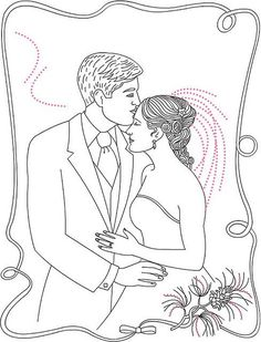 Couple Coloring Page by ktsaltishok, via Flickr: