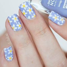 Popular Summer Manicure Charming Daisies On Lilac Base Which summer nail colors do you prefer bright or more neutral? Explore trendy nail designs for the summertime Bright Summer Nails, Cute Summer Nails, Spring Nails, Cute Nails, Nail Summer, Winter Nails, Fall Nails, Summer Colors, Nail Art Designs