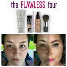 The Flawless Four. Liquid to powder foundation. #younique #foundation #makeup