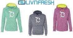 New! Michigan D Performance Hoodies. Women's hoodies have thumb holes! Livnfresh.com