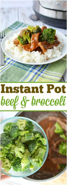 Here's an easy pressure cooker beef and broccoli recipe you'll love. Made in my Instant Pot the other night it has a thick flavorful sauce and tender beef with vegetables cooked together in one pot. Served on top of rice or alone for dinner it is a simple Broccoli Beef, Broccoli Recipes, Beef Recipes, Healthy Recipes, Easy Recipes, Broccoli Salads, Eating Clean, Beef