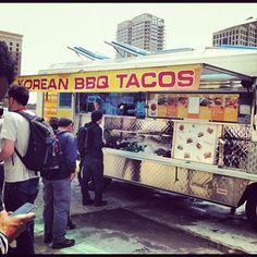 Yummy Korean BBQ Taco food truck on Caesar Chavez