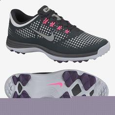 Nike Lunar Empress Womens Spikeless Golf Shoes - Grey/Pink 1244127