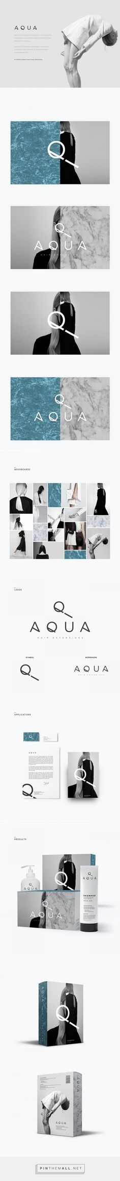 Aqua - Hair Extensions on Behance {cT} Neat variations
