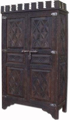 New arrival mroccan cedar armoire , all handmade and hand carved in Morocco. This great piece of furniture will add a special tone and match any home decor. African Furniture, Oriental Furniture, Antique Furniture, Baby Furniture Sets, Furniture Styles, Cool Furniture, Furniture Websites, Moroccan Design, Moroccan Style