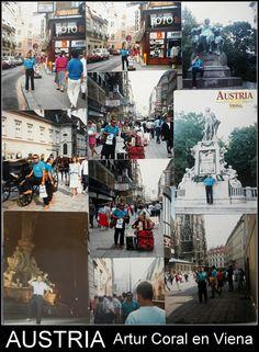ARTUR CORAL EN VIENA |||||||||| EUROPA. AUSTRIA. La ciudad tiene una larga historia, ya que es una de las más antiguas capitales de Europa, y cuenta con un importante patrimonio artístico. FOTOS DE HACE ALGUNOS AÑOS. RECUERDOS, ALBUM FAMILIAR. (COLLAGE).