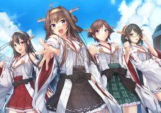 Anime Kantai Collection  Kongou (Kancolle) Haruna (Kancolle) Hiei (Kancolle) Kirishima (Kancolle) Wallpaper