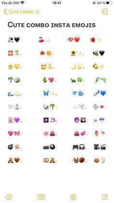 Emoji For Instagram, One Word Instagram Captions, Good Insta Captions, Instagram Bio Quotes, Instagram Story Ideas, Cute Emoji Combinations, Snapchat Friend Emojis, Iphone Life Hacks, Insta Bio