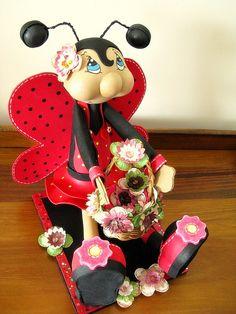 Joaninha em EVA - FOAM (E.V.A.) Ladybug, via Flickr.