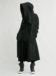 coat black hoodie black coat black jacket black blouse dope streetwear streetstyle style street goth long coat