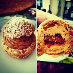 Little Paris-Brest cream puffs, with a delicious praliné almond-hazelnut cream according to the recipe of the wonderful Philippe Conticini,  God of bakery   #homemade #parisbrest #puff #creampuff #desert #yummy #delicious #sweet #sugar #cream #bakery #pastries #pastry #frenchbakery #baking #bakingtime #teatime #almonds #hazelnut #praline #almond #yum #foodie #food #foodporn #tasty #philippeconticini #pâtisseries #pâtisseriedesrêves