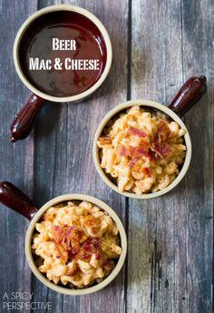 BEER MAC AND CHEESE RECIPE on ASpicyPerspective.com #macandcheese #beer
