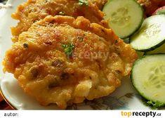 Kuřecí řízečky v pařížském těstíčku recept - TopRecepty.cz Risotto, Zucchini, Shrimp, Food And Drink, Cooking Recipes, Pizza, Meat, Chicken, Vegetables