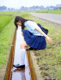 asian, girl, and school uniform image