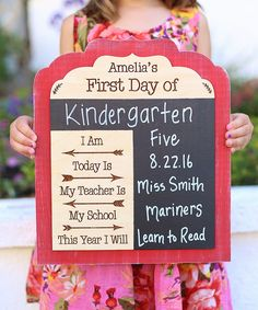 'First Day of' Personalized Chalkboard Sign