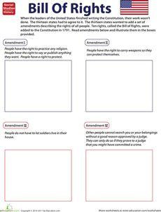 Illustrate the Bill of Rights Worksheet