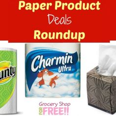 Paper Product Deals Roundup!  Coupons And Matchups!