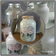 Chalkpaint Annie Sloan, decoupage, craqueleur, Dark wax
