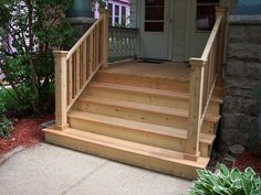 Best Wood Outdoor Steps Improvements And Repairs Front Porch 640 x 480