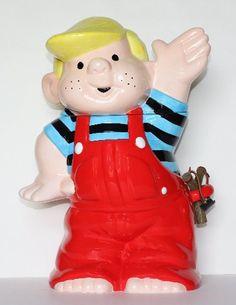 DENIS THE MENACE COOKIE JAR. From Clark's Vintage Cookie Jars.