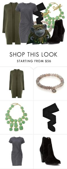 """""""OOTD: Grand Pabbie"""" by fabulousgurl ❤ liked on Polyvore featuring Oasis, Sydney Evan, Kenneth Jay Lane, HYD, Audrey 3+1, Disney, Bungalow 20, disneybound and frozen"""