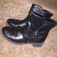 Black Boots X•Appeal black boots - Got them in 2013 - Good condition for the year - Size 6 X appeal Shoes Ankle Boots & Booties