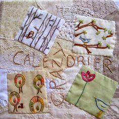 cahier textile : calendrier crazy
