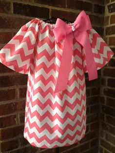 Peasant Dress - Girl, Toddler Girl, Baby Girl - Available in size 12M thru 4T - Riley Blake Chevron. $32.00, via Etsy.