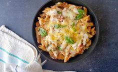 A hearty, rich solo dinner recipe for Basil and Tomato Penne Pasta, topped with melted cheddar and mozzarella cheese. Penne Recipes, Cooking Recipes, Healthy Family Meals, Healthy Snacks, Best Vegetable Recipes, Stuffed Mushrooms, Stuffed Peppers, Penne Pasta, Vegetarian Cheese