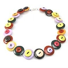 Button Necklace Workshop! Bright  colourful use for buttons!