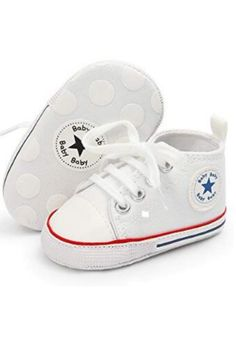 Antheron Baby Girls Boys Canvas Shoes Soft Sole Toddler First Walker Infant High-Top Ankle Sneakers Newborn Crib Shoes Ankle Sneakers, Baby Sneakers, Canvas Sneakers, Baby Canvas, Baby Crib Shoes, Beautiful Baby Girl, Beautiful Shoes, Walker Shoes, First Walkers