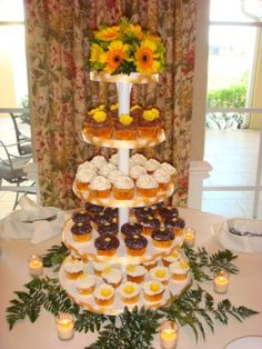 Wedding cupcake tower by Grace & Shelly's