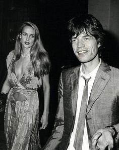 Jerry Hall + Mick Jagger