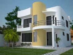 fachadas de casas de dos pisos modernas pequeas