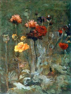 Still Life with Scabiosa and Ranunculus by Vincent van Gogh