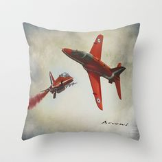 """Red Arrows"" Throw Pillow by Peaky40 - $20.00"