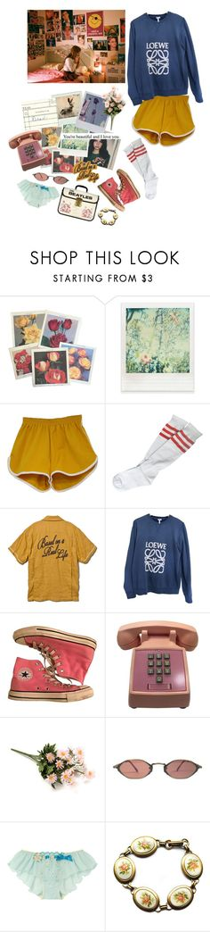 """""""I can do it, you can do it"""" by ineedsomecyanide ❤ liked on Polyvore featuring Polaroid, Impossible Project, DV, Loewe, Converse, Matsuda and Parlor"""