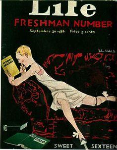 John Held Jr., Sweet Sixteen, Life, Freshman Number, September 30 1926
