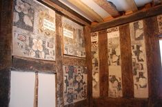 another angle of. Ceiling Painting, Medieval Castle, Medieval Life, Surface Art, Painted Furniture, Painted Walls, Tudor House, Timber House, Room Paint