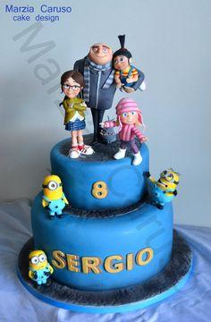 Original tarta para celebración de cumpleaños Minions. #tarta #Minions