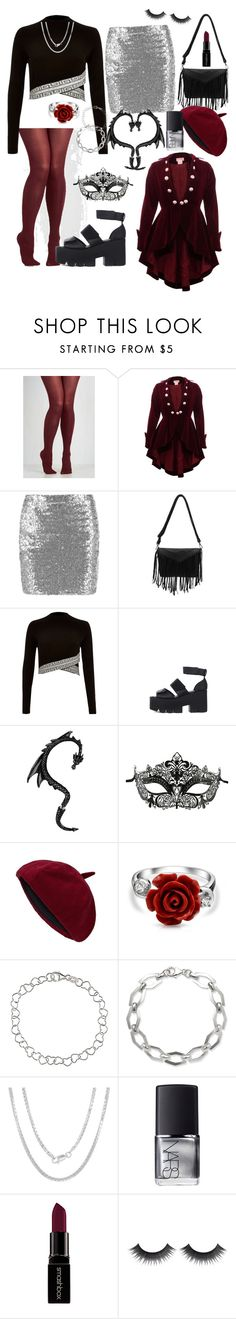 """""""Be Bold This Valentines Day"""" by dontkaitlyn on Polyvore featuring River Island, Bling Jewelry, Sterling Essentials, La Preciosa, NARS Cosmetics, Smashbox, women's clothing, women's fashion, women and female"""