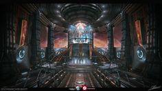 throne room sci fi futuristic space lyoko code fantasy environment overpowered concept rooms created textures cinematic nintendo universe artstation 3d