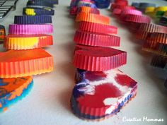 Creative Mommas: Heart Shaped Crayons Tutorial: Valentines for classmates