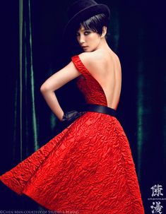 Li Bing Bing Marvels in Vogue Chinas October Cover Shoot by Chen Man